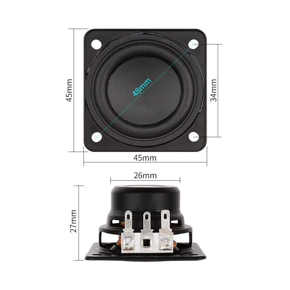 2 шт 1,75 дюймов портативный Bluetooth динамик 45 мм 4ohm 10 Вт Неодимовый полный диапазон большой ход Для Harman Kardon акустические блоки DIY