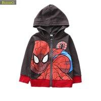 Chaude Automne Spiderman À Capuche Manteau Bébé Garçon de Bande Dessinée Vêtements Enfants Veste Fille Casual Costume Enfants Vêtements Le Nouveau Super hero