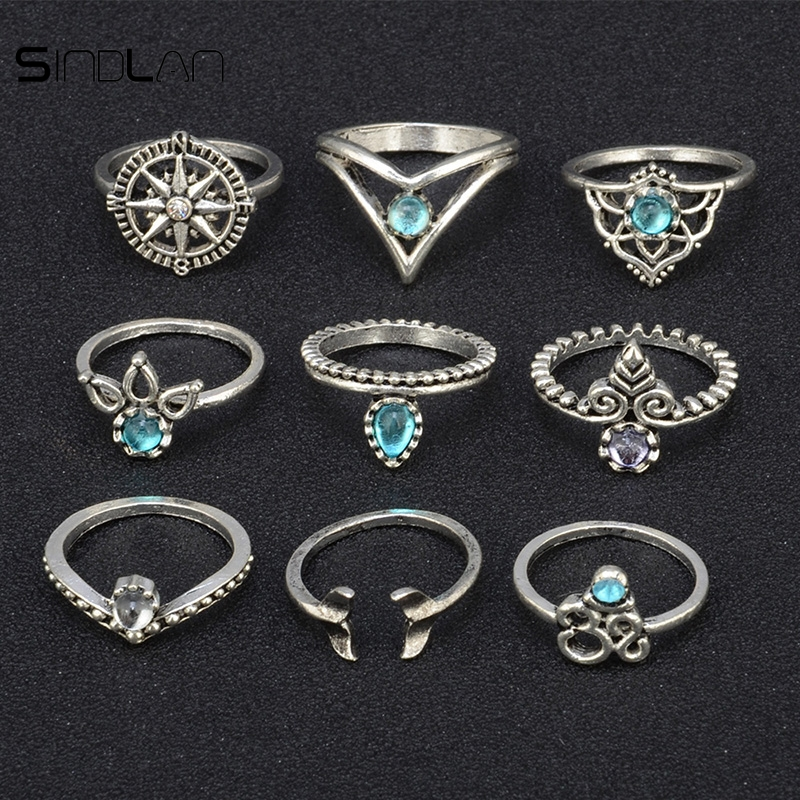 Նոր հարսանեկան զարդեր 9 հատ / Set Bohemian - Նորաձև զարդեր - Լուսանկար 3