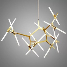 AC 220V retro modern LED chandelier simple gloss  indoor living room lighting kitchen restaurant lamps