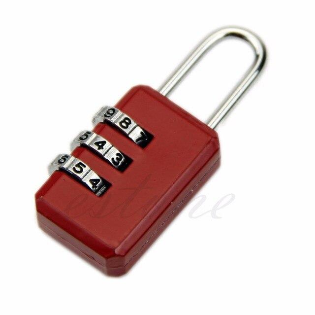 ミニ 3 桁リセッタコンビネーション荷物スーツケースのロック南京錠グレー 05B 18463