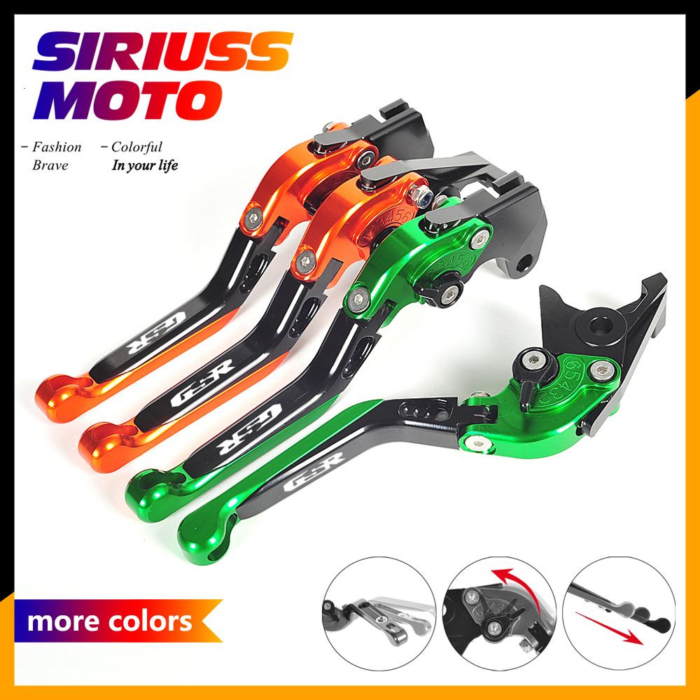 14 Colors CNC Motorcycle Foldable Lever Motobike Brake Clutch Levers Case for Suzuki GSR600 GSR 600 2006-2011 for suzuki gsr600 gsr 600 2006 2011 gsr750 gsr 750 2011 2016 gsr400 2008 2012 motorcycle accessories short brake clutch levers