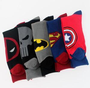 Image 2 - HOT avengers rysunek moda mężczyzna śliczne bawełniane skarpety komiks marvela superbohater party kostium cosplay na halloween batman deadpool skarpetki