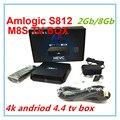 4 К M8S android-тв Box Amlogic S812 2 ГБ / 8 ГБ Android 4.4 kitkat KODI предустановленное 2.4 г / 5 г wi-fi Bluetooth M8 обновление медиаплеер