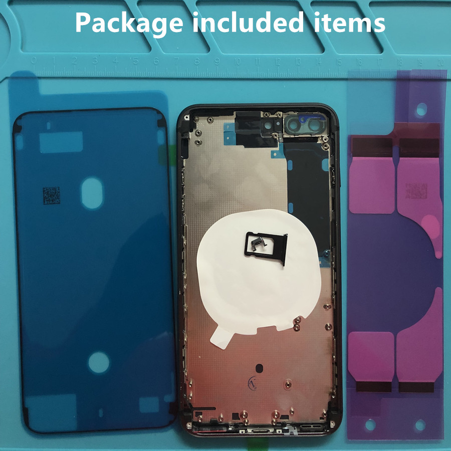 Replacement Parts For IPhone 8 8 Plus Rear Housing Middle Frame And Back Glass Cover With Small Parts