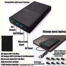 Vinsic 30000 mah Energienbank 30000 mah Power für Notebook Laptop für Xiaomi iPhone iPad Huawei 2 Ports 2.4A DC 19 V 3.5A