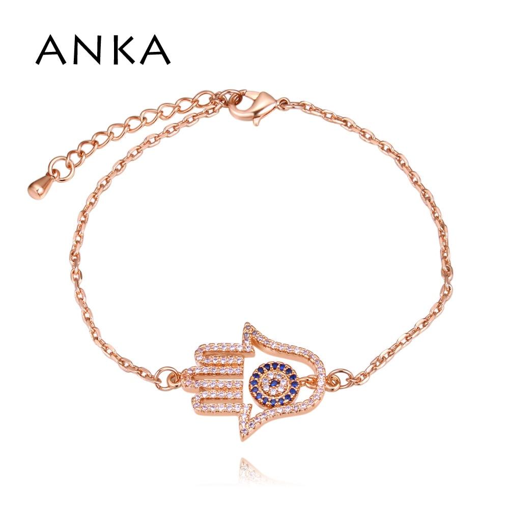 Chain & Link Bracelets Cheap Sale Anka New Simple Designer Turkish Evil Eye Bracelet Pave Cubic Zirconia Blue Eye Gold Color Bracelets For Women Jewelry #132399 Pleasant In After-Taste