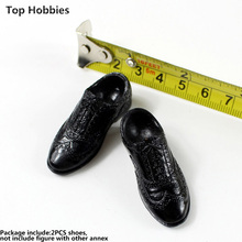 1:6 Male doll model accessories Men's round head with pattern lace-up shoes solid spot Fit 12 Inch Phicen Action Figure