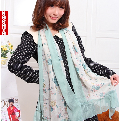 2013 spring and autumn thin scarf female long design silk scarf
