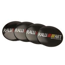 Car Accessories Wheel Center Hub Caps Ralliart Sticker For Mitsubishi Outlander ASX Lancer 9 10 Pajero L200 Colt Carisma Galant цена