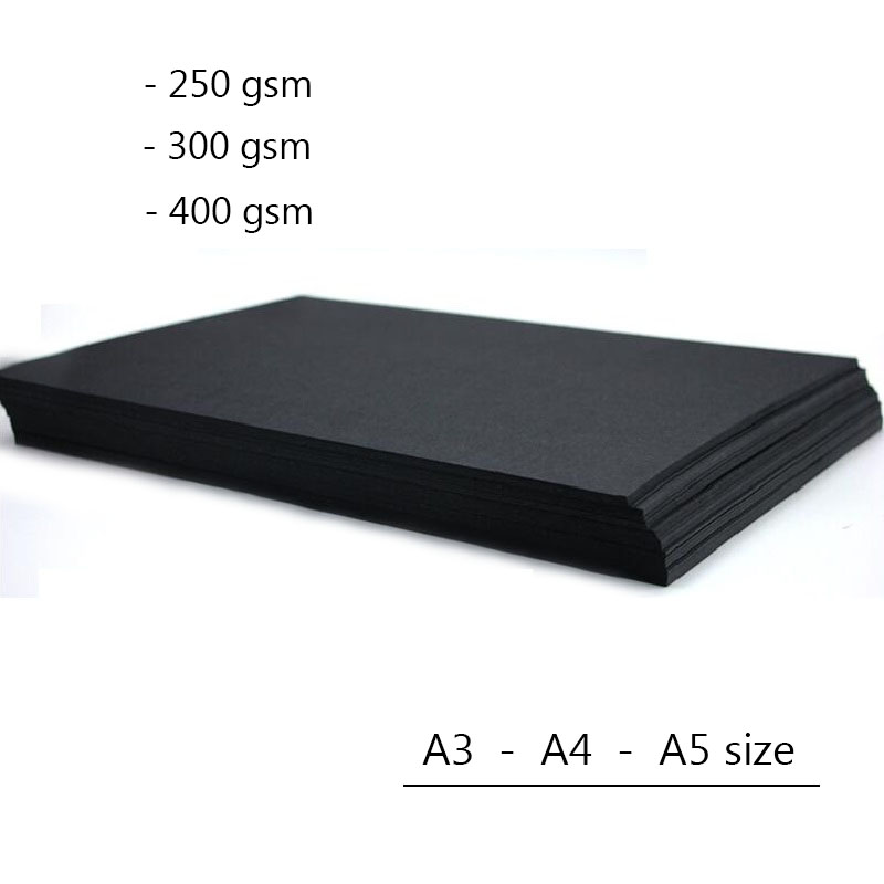 proper black 200 Sheets 130gsm A5 Black Paper nice thick