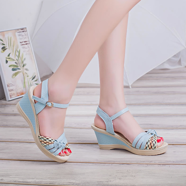New Female Sandals High Heels Shoes Platform Wedges Women Pumps Open Toe Casual Shoes For Woman  BAOK-2e7c