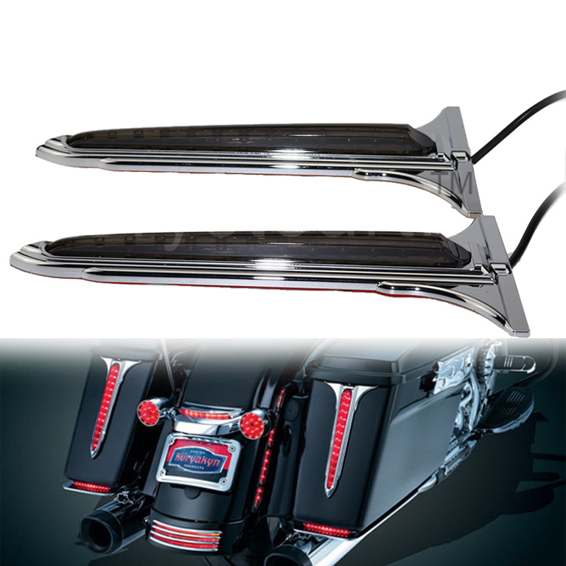Luggage Rack Tail Brake Light Fit For Harley Touring Electra Street Glide 93-13