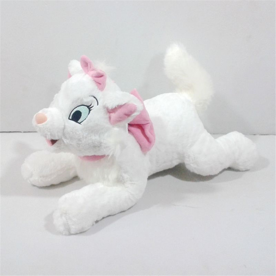 Marie Cat Plush Toy Lying 40cm/16'' Soft White Cats Pillows Cute Stuffed Animals Girls Toys for Children Kids Gifts