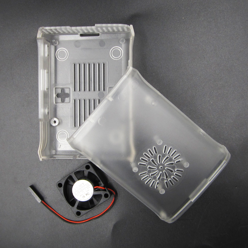 Black ABS Cover Enclosure Combo Box+Cooling Fan For Raspberry Pi2 Pi3 Model B+