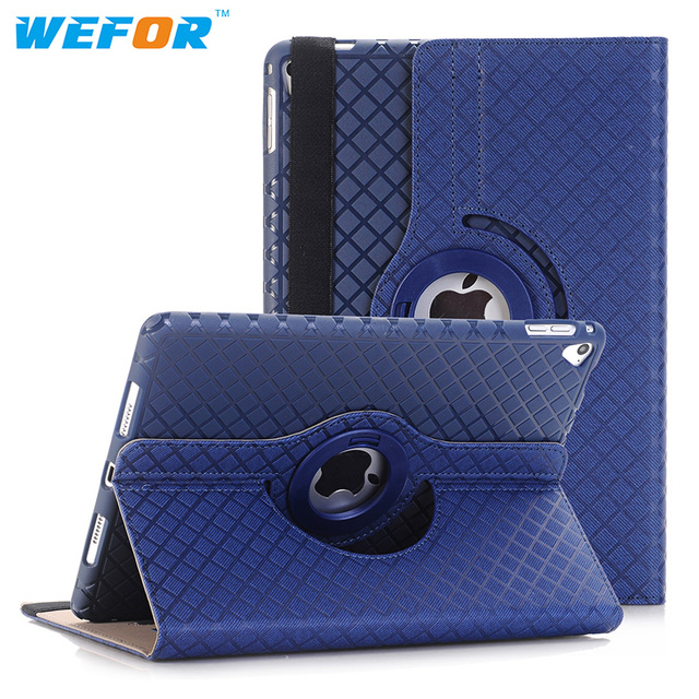 """Case Cover For Apple iPad Pro 9.7"""" PU Leather Flip Smart Stand 360 Rotating Case Screen Protector Film Stylus Pen"""