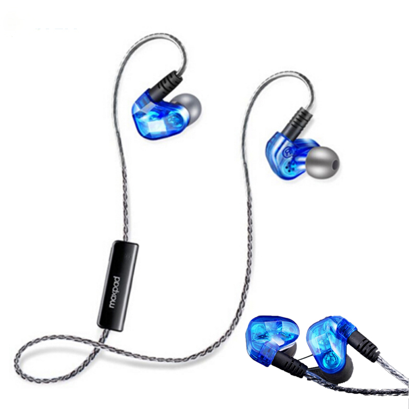 Moxpad X90 Dynamic Dual Drivers Wireless bluetooth Earphone Sport earphones Studio with Mic for iPhone 6s xiaomi 6 huawei p9 ...