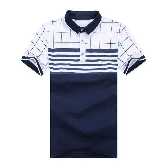 2017 Новый летний стиль большой размер марка polo мужчины Тройники рубашка плюс размер XXXL коротким рукавом классический 95% хлопок тонкий топы