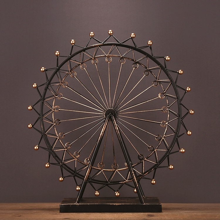 Reminiscent Iron Art Ferris Wheel Model Handmade Metal Carnival Ornament Craft Accessories for Home Decoration and Souvenir GiftReminiscent Iron Art Ferris Wheel Model Handmade Metal Carnival Ornament Craft Accessories for Home Decoration and Souvenir Gift