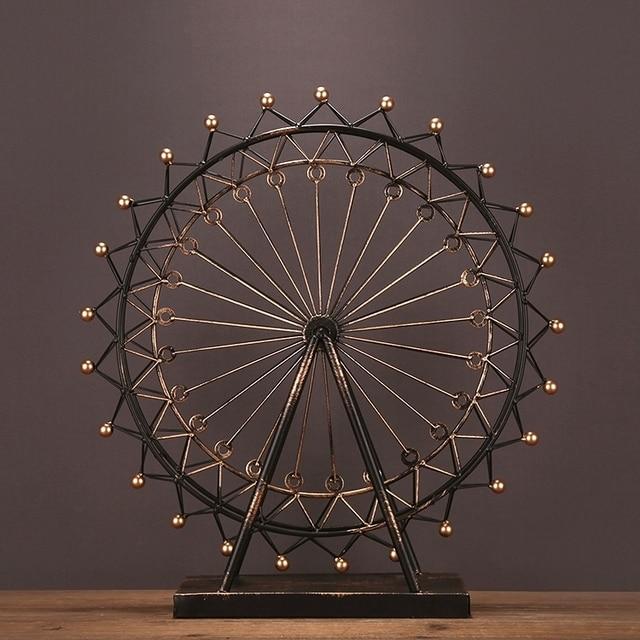 Reminiscent Iron Art Ferris Wheel Model Handmade Metal Carnival ...