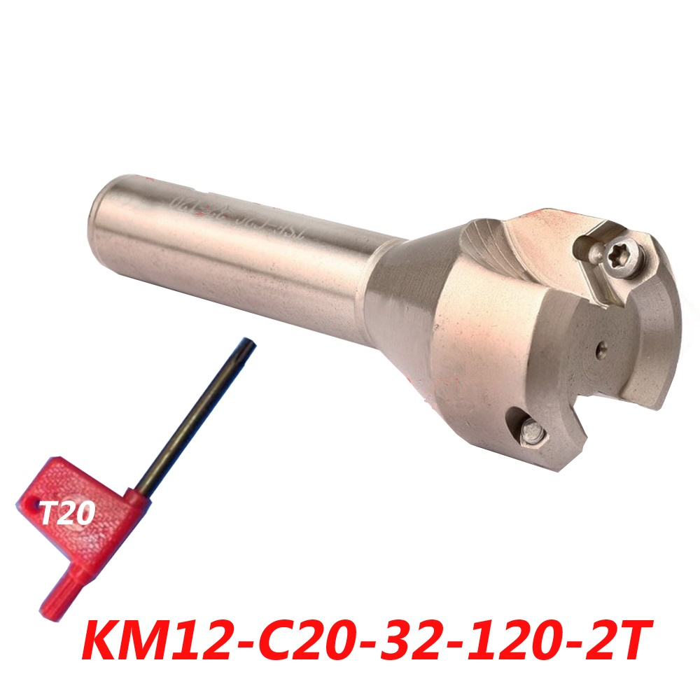 Free Shipping KM12-C20-32-120-2T 45 Angle Insertable End Mill For SEHT1204 Carbide Insert free shipping t2139 c10 4r 110 insertable ball finish end mill cutting tools for p3200 08