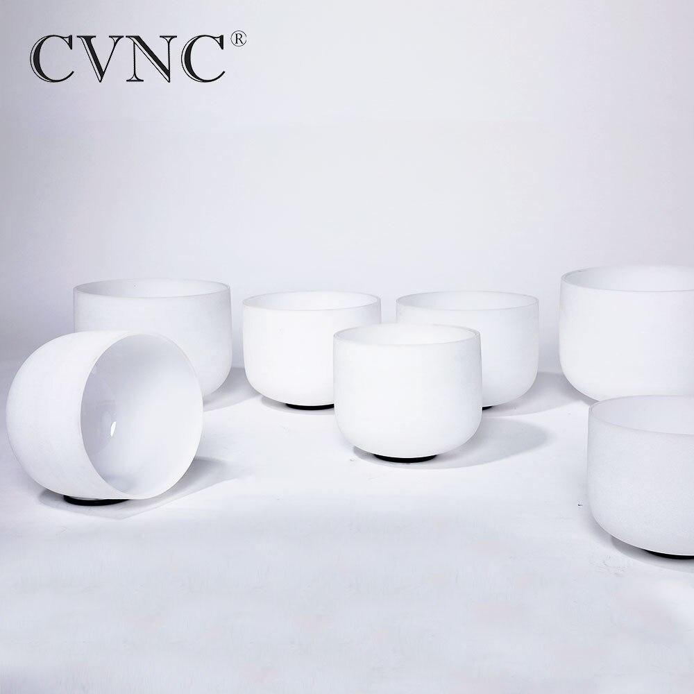 CVNC 440Hz ou 432Hz 6 6 8 10 10 12 12 givré Cristal de Quartz bol chantant