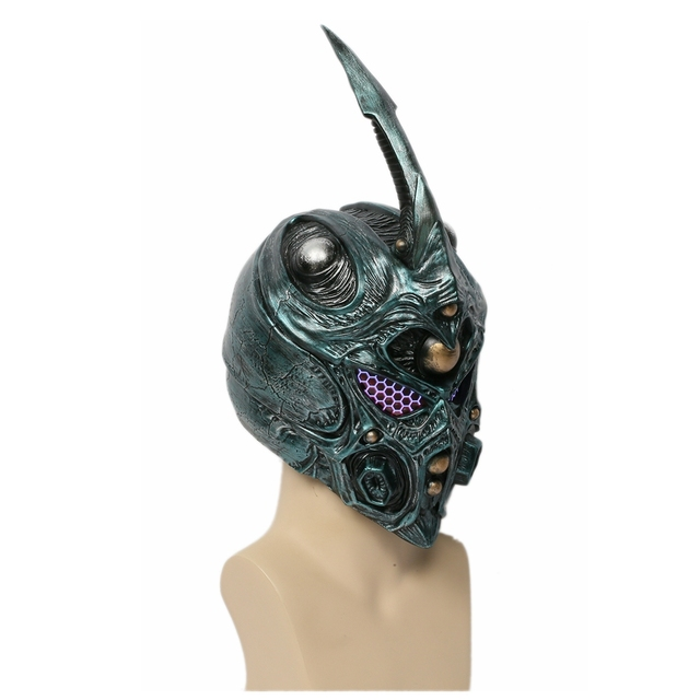 Coslive Bio Booster Armor Guyver Dark Green Helmet With Detachable Horn Cosplay Mask Bio Booster Armor Guyver Helmet