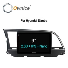 "Ownice C500 машины Радио плеер 9 ""для Hyundai Elantra 2016 GPS Navi Android 6.0 Octa 8 ядра Поддержка 4 г LTE 32 ГБ dab + CarPlay DVR"