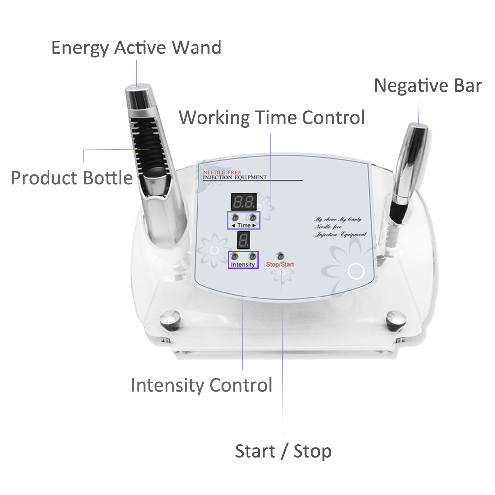 Купить с кэшбэком Needle Free MESO Electroporation Skin Wrinkle Romoval Facial Rejuvenation Anti-aging Lift No Needle Mesotherapy Beauty Machine