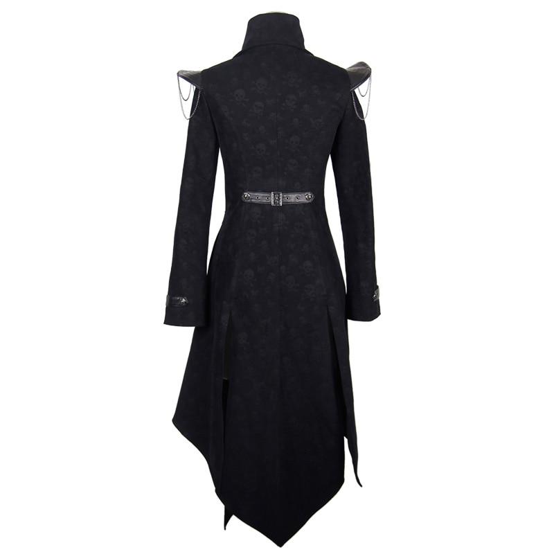 Devil Fashion Heavy Punk Rock Asymmetrische Langjacke Mäntel für - Damenbekleidung - Foto 6