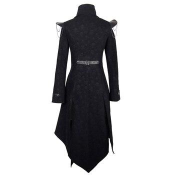 Devil Fashion Heavy Punk Rock Asymmetric Long Jacket Coats for Women Steampunk Black Autumn Winter Cotton Overcoat Windbreakers 10