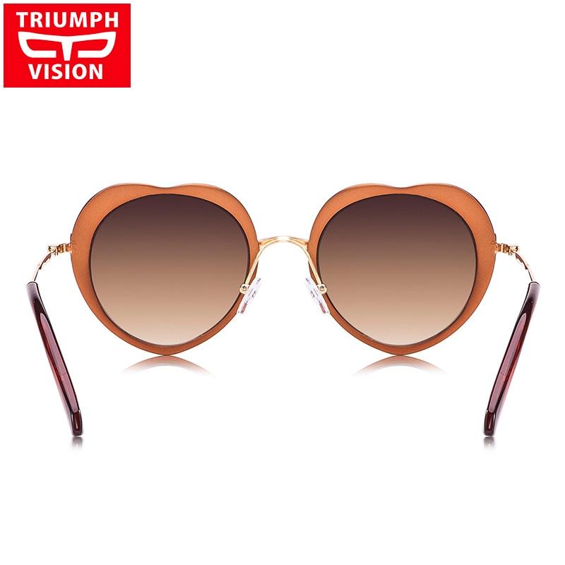 TRIUMPH VISION Heart Ladies Gafas de sol Diseñador de lujo Lunette - Accesorios para la ropa - foto 4