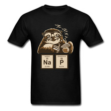 Chemistry Professor Sloth Funny Vintage Tshirt Chemical Element Periodic Table Cute Graphic New T Shirt For Men Custom Gift 1 pcs 99 99% 9 73 grams bi bismuth metal carved element periodic table 10mm cube