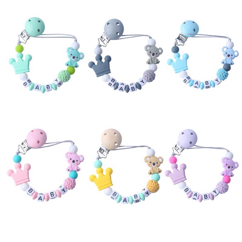 Baby Care Universal Holder Leash For Pacifiers Nipples Clip Chain Infant Child Soother Beaded Chains Teethers Beads Pacifiers