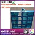 Led gabinete moldura de alumínio levou armário de exposição 768 * 768 mm para outdoor led screen rgb painel de led full color programável levou sinais
