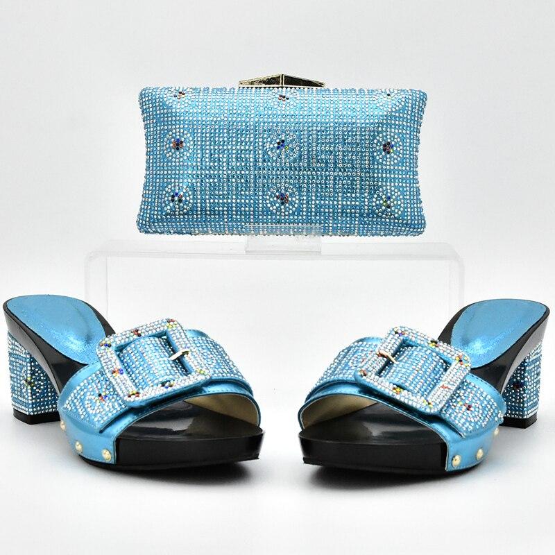 Cielo oro Cielo Azul azul Y Decorado Color Italiano Zapatos Italianos amarillo Bolso Matching Negro plata Tinto Con Bolsa Sistema Rhinestone Nigerianas vino Del naranja azul Mujeres Conjunto qdxHd1R