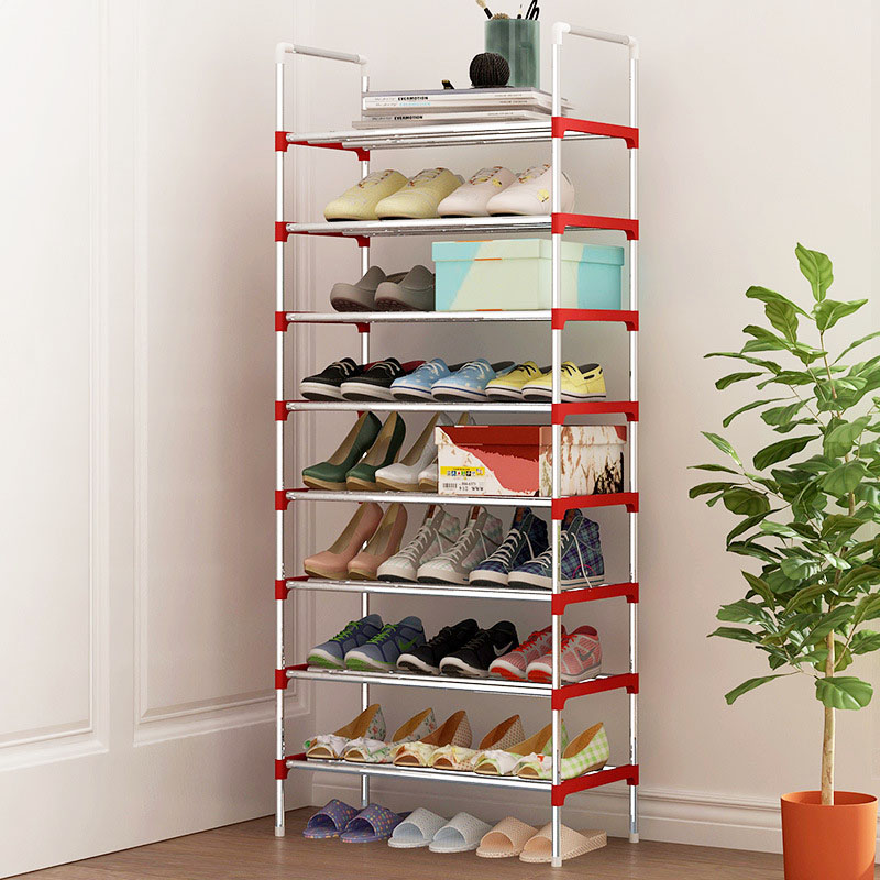 9 Layers Shoe Rack Galvanized steel pipe Simple assembly shoe cabinet shoe organizer removable shoe storage for home furniture 43 3 inch 7 layer 9 grid non woven fabrics large shoe rack organizer removable shoe storage for home furniture shoe cabinet