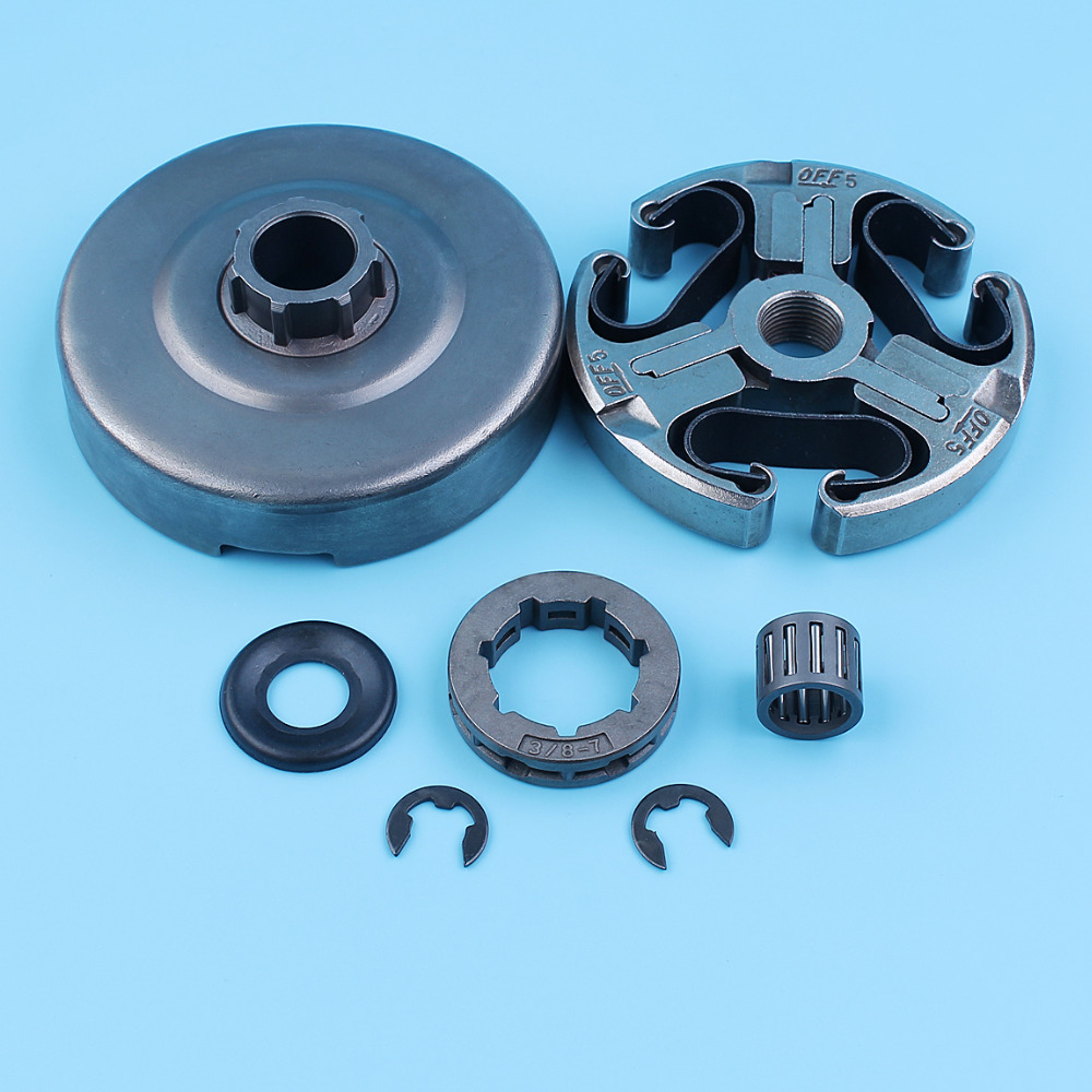 Clutch Drum Sprocket Washer Bearing Kit For Husqvarna 362 365 371 372 Chainsaw E-clip Needle Cage 3/8