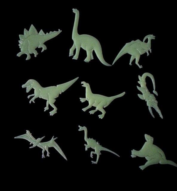 fluorescent luminous dinosaurs wall stickers glow in the dark stars