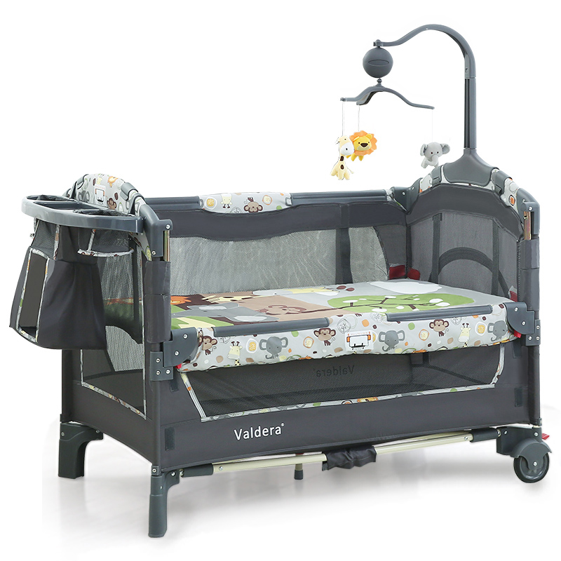 Valdera Multifunctional Folding Baby Bed Fashion Portable Game Bed 0-3 Years Baby Bed Band Mosquito Net Brand Cribs