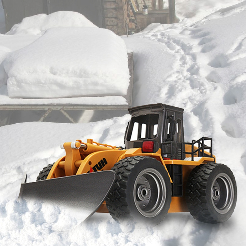 2019 Kids Electric RC Shovel Truck Model 1:18 6CH 2.4G Alloy toy Radio control Snow/sand sweeper Model RC Engineering Truck childred 1 32 detachable kids electric big rc container truck boy model car remote control radio truck toy with sound