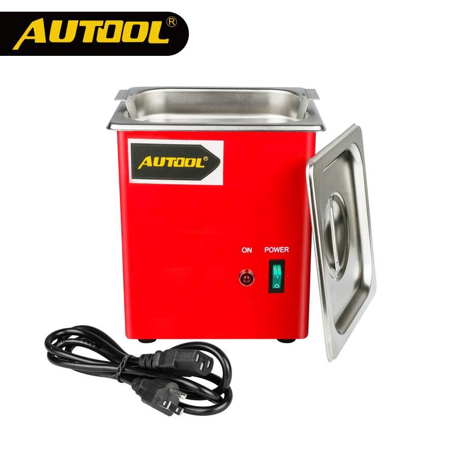 цена на AUTOOL MCT100 Car Ultrasonic Fuel Injector Cleaning Machine Cleaner Auto Petrol Gasoline Diesel Spark Plug PK LAUNCH CNC602A