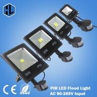 50x Newest 85 265V 10W 20w 30w 50w Led Flood Light New Type Black Shell PIR