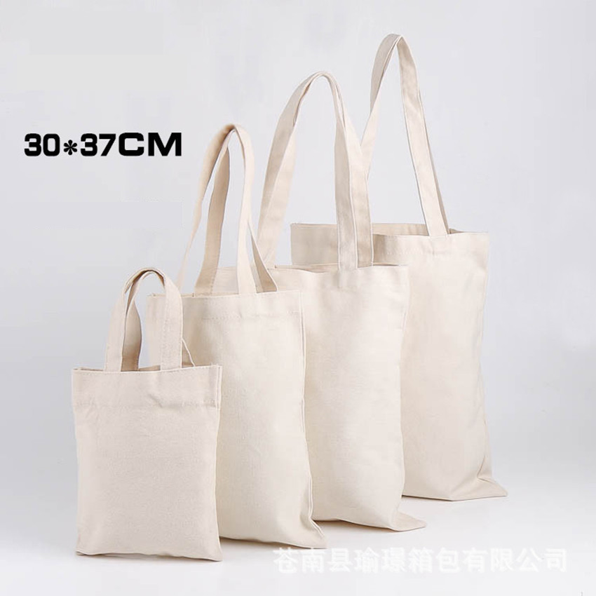 Free shipping Cotton Canvas Shoulder Bag Eco Shopping Tote blank canvas shopping bag for DIY painting promotional gift bag