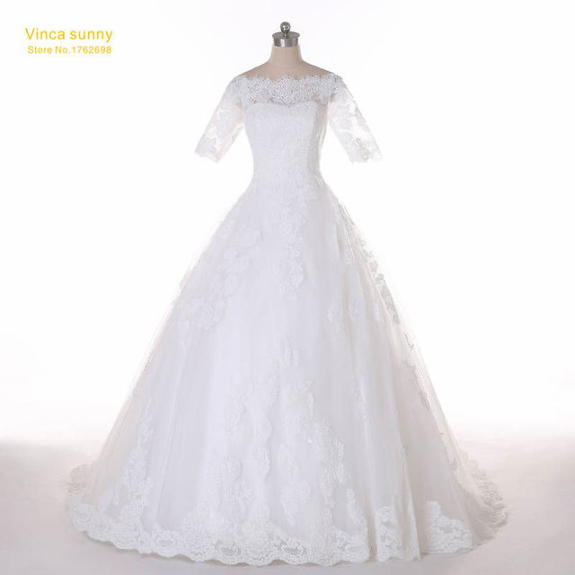 Vinca Sunny 2018 New Wedding Dress The Bride Married White Lace ...