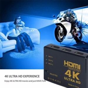 Image 5 - Сплиттер переключатель HDMI 3 в 1, 4K * 2K 3x1, HDTV аудио видео адаптер с дистанционным управлением для XBOX360 DVD PS3 проектора