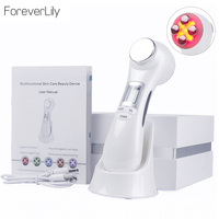 6 in 1 Face Photon RF Radio Frequency EMS Mesotherapy Led Light Therapy Microcurrent Ultrasonic Vibration Face Lifting Massager