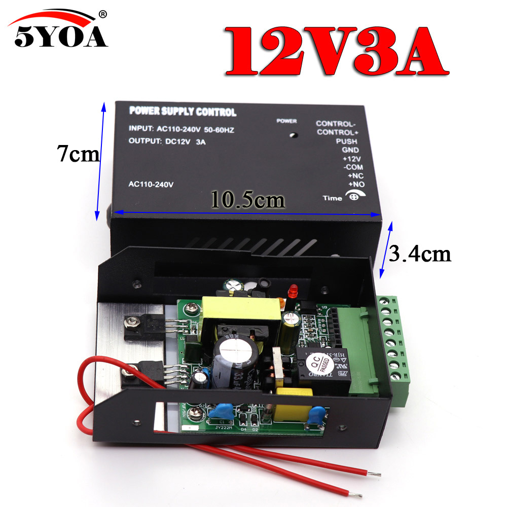 Access Control Dc12v 5a Door Access Control System Switch Power Supply For Rfid Fingerprint Access Control Device Access Control Accessories