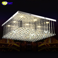 FUMAT led Square restaurant chandelier lighting creative modern Crystal simple bar decorated Chandelier lustre home lighting