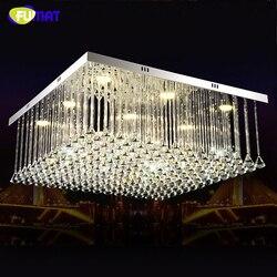 FUMAT led plac restauracja żyrandol oświetlenie kreatywny nowoczesny kryształowy proste bar bogato zdobiony żyrandol lustre oświetlenie domu